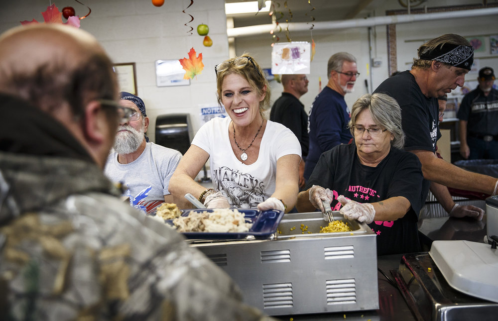 George Hurst, left, Johanna Simmering, center, and  