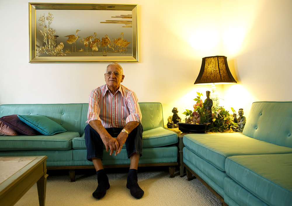 John Phillipich was just 18 years old when the Japanese attacked Pearl Harbor and he remembers having to pester his father for permission to enlist. He eventually served on the battleship USS Idaho in the Pacific. Phillipich was photographed at his home Tuesday, Dec. 6, 2016. Rich Saal/The State Journal-Register