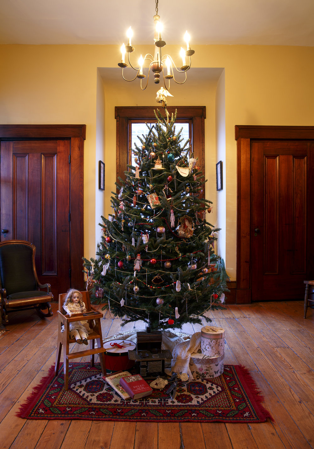 A room at the Elijah Iles House during the annual candlelight tour of the historic home Friday, Dec. 9, 2016. The house is the oldest in Springfield and is decorated in the style of Christmas during different times in the 19th and 20th centuries.  The candlelight tours return Feb. 16 and 17 from 5-8 p.m. Rich Saal/The State Journal-Register