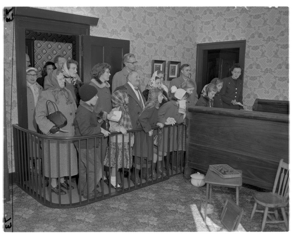 Visitors tour the Lincoln Home Feb. 12, 1955. File/The State Journal-Register