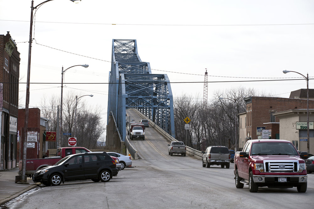 The current bridge that carries Illinois 104 over the Illinois River at Meredosia opened in 1936. It will be demolished when a new $75.1 million bridge under construction opens next summer. [Rich Saal/The State Journal-Register]