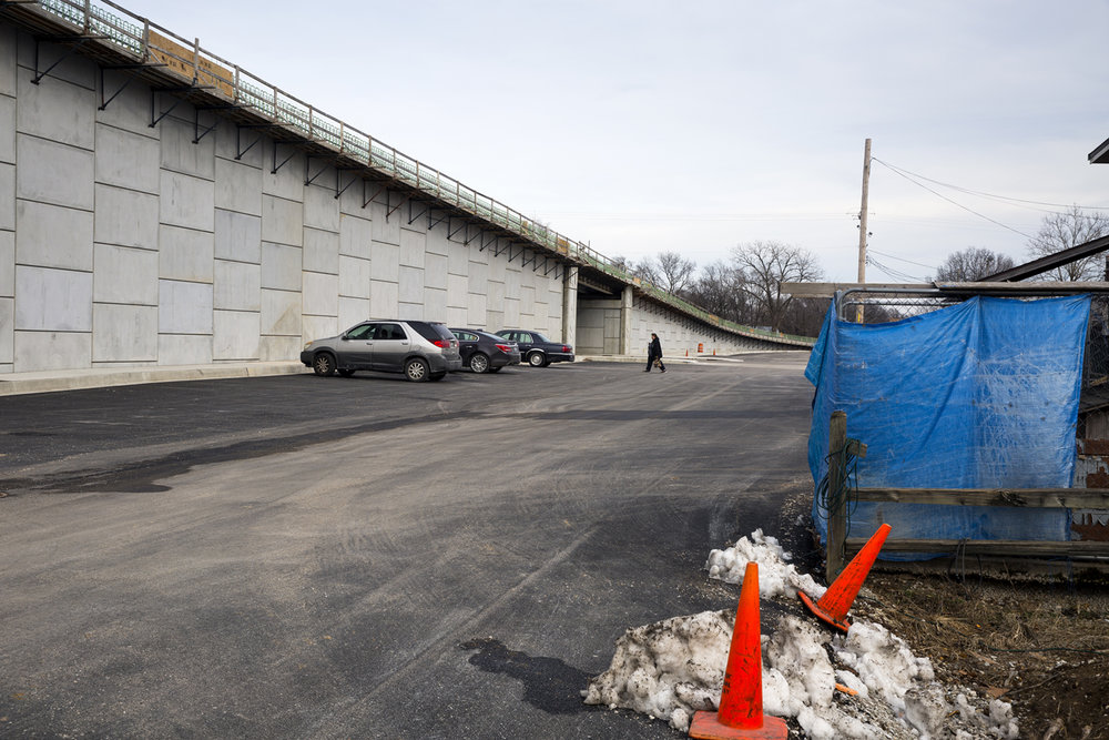 The east approach to the new Illinois 104 bridge at Meredosia is seen Friday, Feb.10, 2017. [Rich Saal/The State Journal-Register]