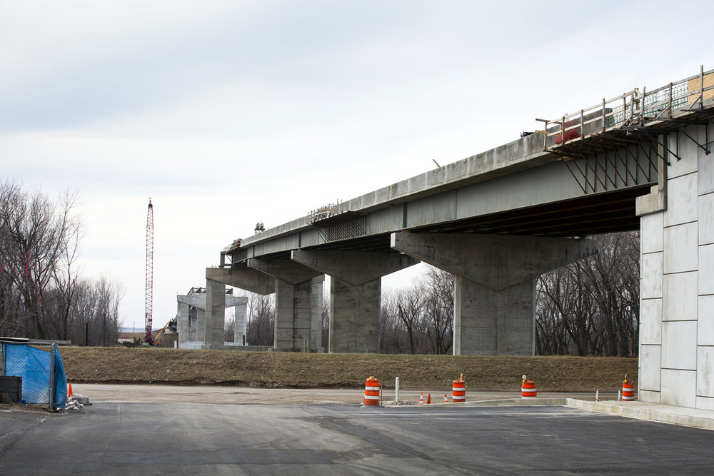 A new $75.1 million bridge that will carry Illinois 104 over the Illinois River at Meredosia is under construction Friday, Feb.10, 2017. [Rich Saal/The State Journal-Register]