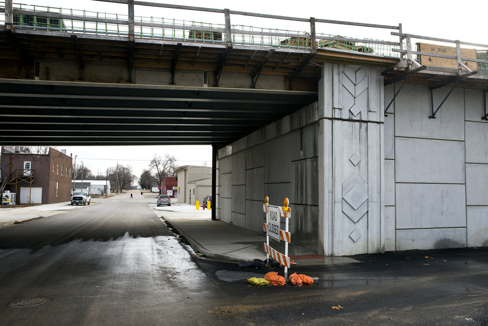A new $75.1 million bridge that will carry Illinois 104 over the Illinois River at Meredosia is under construction one block north Main Street. The new bridge was photographed Friday, Feb.10, 2017. [Rich Saal/The State Journal-Register]