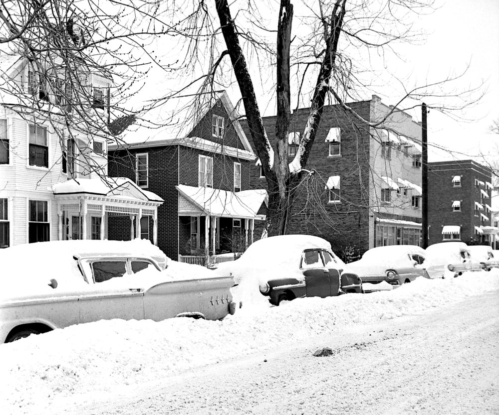 Springfield received 14.4 inches of snow on Feb. 24 and 25, 1965. This image shows the 500 block of East Monroe Street. File/The State Journal-Register