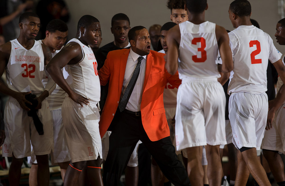 Lanphier head coach Blake Turner expresses his frustration with the Lions' effort against Mt. Zion during the Class 3A Sectional final in Effingham Friday, March 10, 2017. [Ted Schurter/The State Journal-Register]