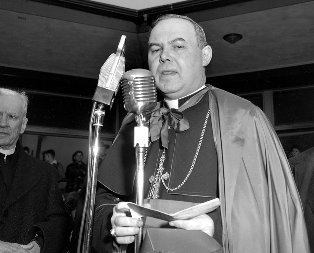 Bishop William A. O'Connor arrives in Springfield March 1949. File/The State Journal-Register