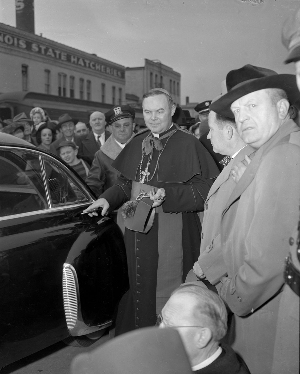 Arrival of Bishop William A. O'Connor March 1949. File/The State Journal-Register
