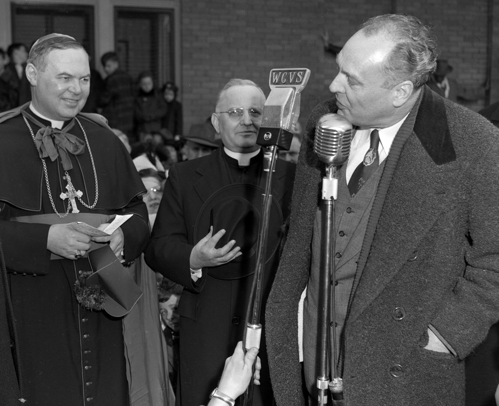 Springfield Mayor Harry Eileson welcomes Bishop William A. O'Connor to Springfield March 1949. File/The State Journal-Register