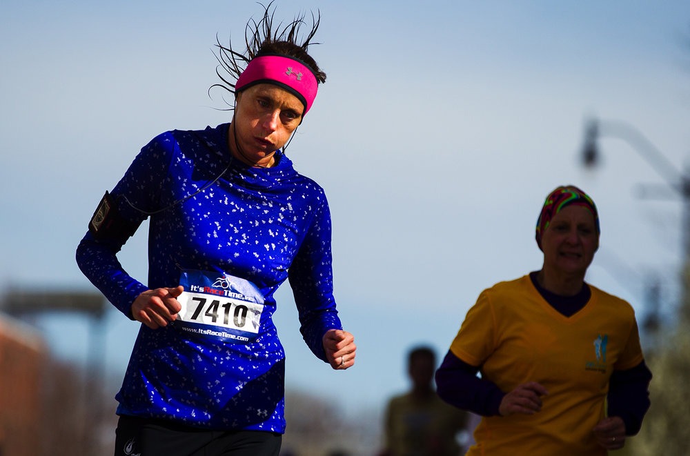 Grazia Silvestro competes in the Lincoln Presidential Half Marathon in Springfield Saturday, April 1, 2017. 