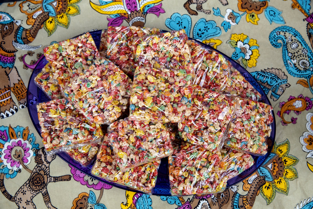 Rainbow Rice Krispie treats made with Fruity Pebbles were offered at the CLM Concessions' stand at Springfield PrideFest Saturday, May 20, 2017.  [Rich Saal/The State Journal-Register]