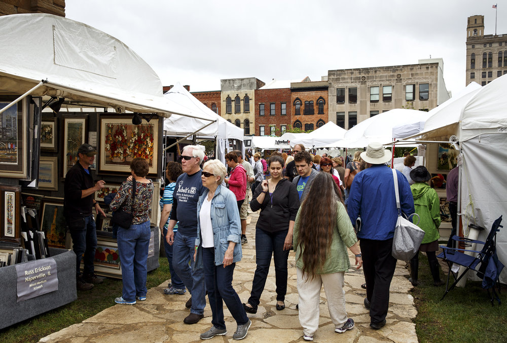 Despite a morning rain shower, it dried up in time for the opening of the Old Capitol Art Fair Saturday, May 20, 2017. [Rich Saal/The State Journal-Register]
