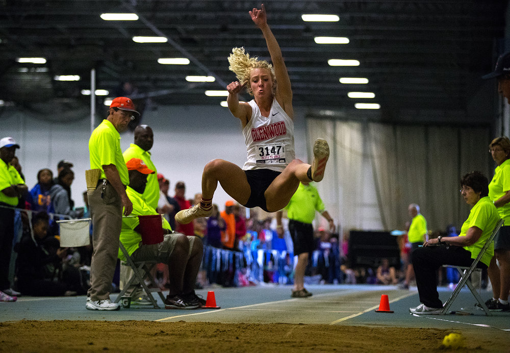 Glenwood's  Alison Woerner placed third in the Class 3A long jump with a leap of  19-03.50 during the Girls Track and Field State Final Meet at O'Brien Field in Charleston, Ill., Saturday, May 20, 2017.  [Ted Schurter/The State Journal-Register]