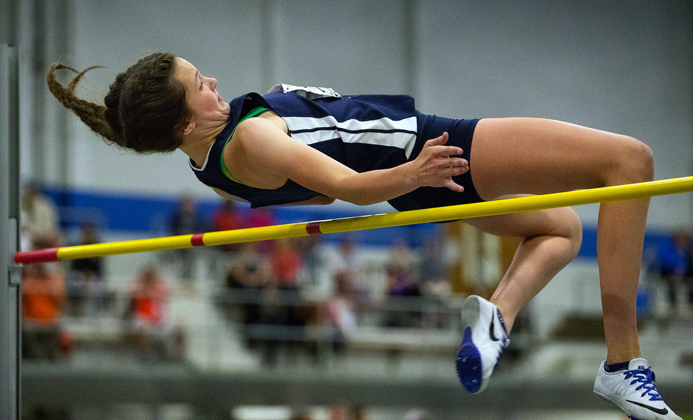 Rochester's Mary Gegen placed 10th in the Class 2A high jump during the Girls Track and Field State Final Meet at O'Brien Field in Charleston, Ill., Saturday, May 20, 2017.  [Ted Schurter/The State Journal-Register]