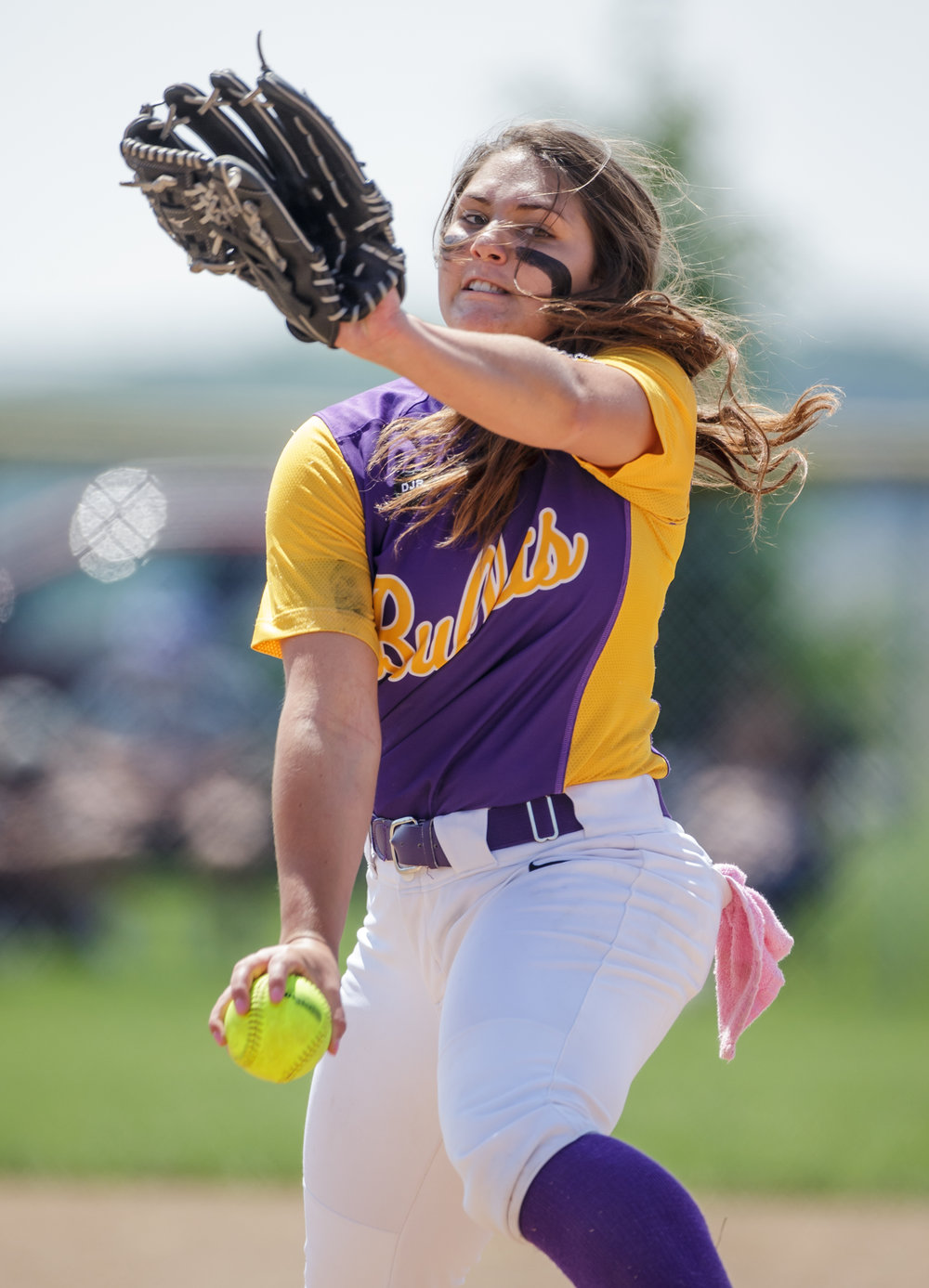 Williamsville's Payton Long (21) winds up a pitch against Tri-City in the first inning during the Class 2A Williamsville Sectional Championship game at Jane Grebner Field, Saturday, May 27, 2017, in Williamsville, Ill. [Justin L. Fowler/The State Journal-Register]