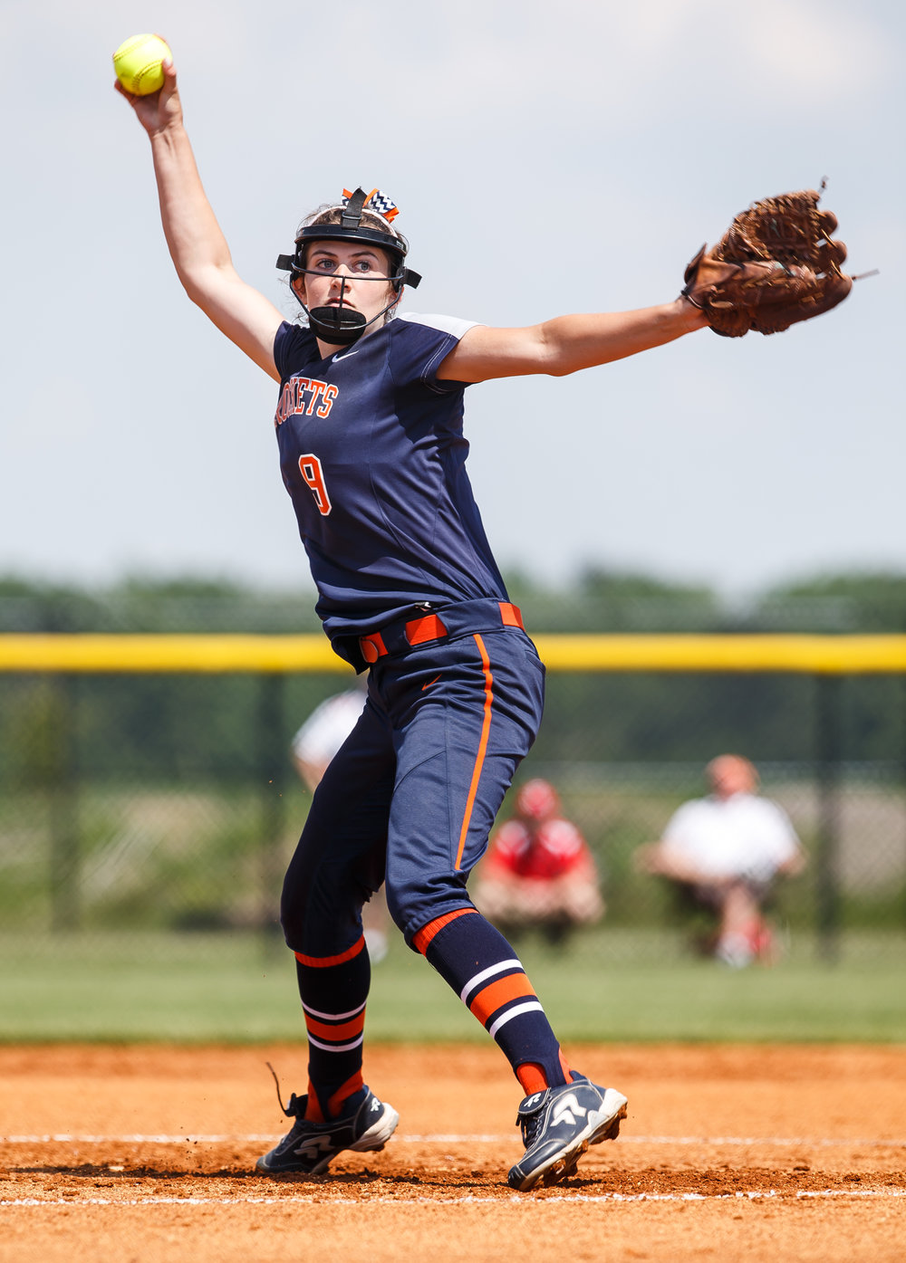 Rochester's Reagan Miles (9) delivers a pitch against Glenwood in the first inning during the Class 3A Glenwood Sectional championship at Glenwood High School, Saturday, June 3, 2017, in Chatham, Ill. [Justin L. Fowler/The State Journal-Register]