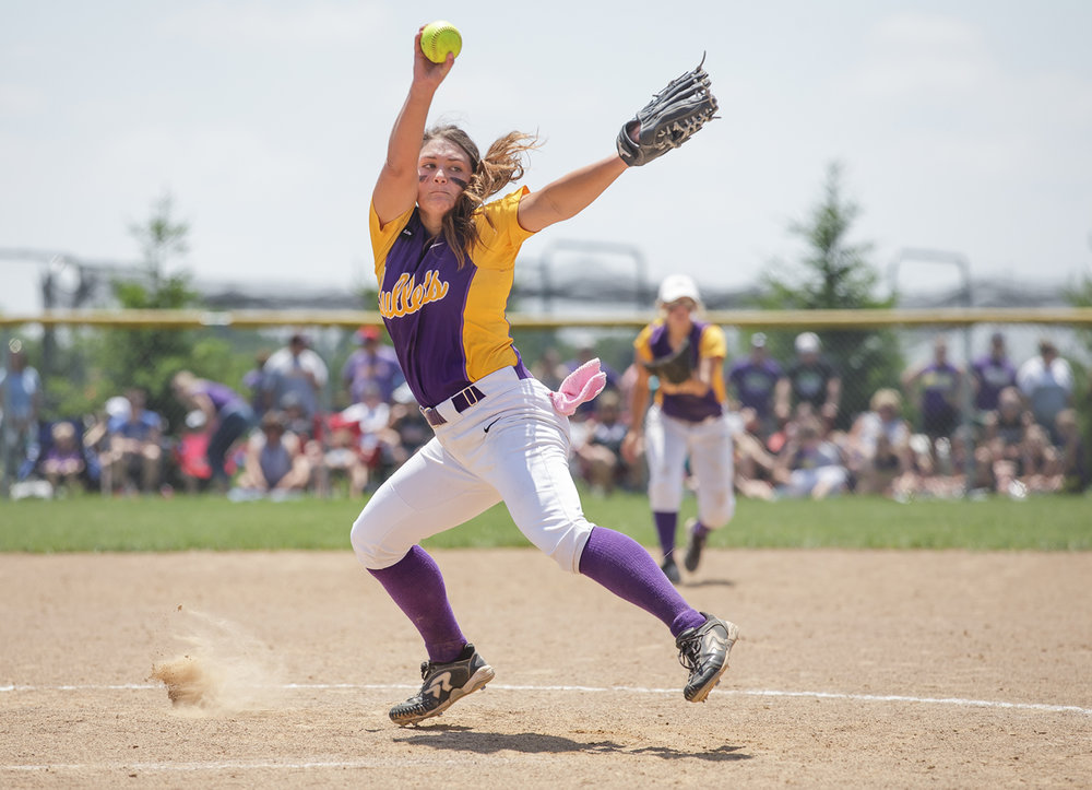 Williamsville's Payton Long (21) delivers a pitch against Tri-City in the fifth inning during the Class 2A Williamsville Sectional Championship game at Jane Grebner Field, Saturday, May 27, 2017, in Williamsville, Ill. [Justin L. Fowler/The State Journal-Register]