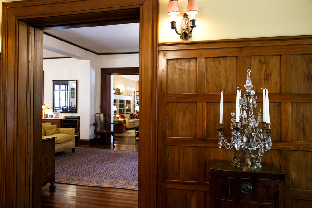 A view from the formal dining room to the main hallway of the Gillett home in Elkhart Tuesday, June 6, 2017. [Rich Saal/The State Journal-Register]