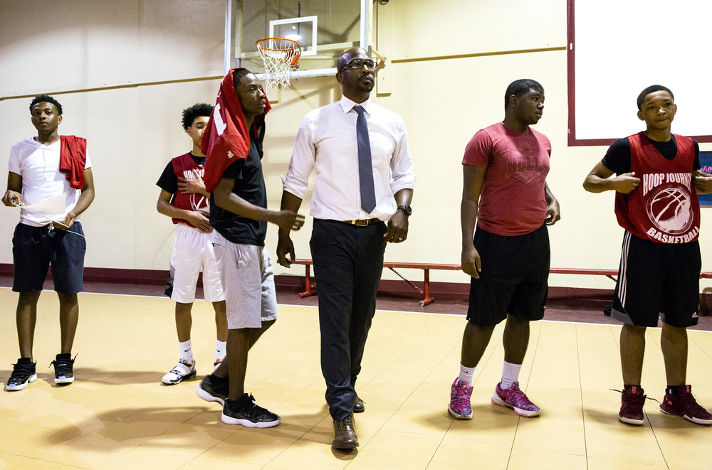Mike Phelon started The Outlet's summer basketball league six years ago to give young men in the community a structured activity in the summer. Phelon opened the league's season Monday, June 5, 2017 at Abundant Faith Christian Center. [Rich Saal/The State Journal-Register]