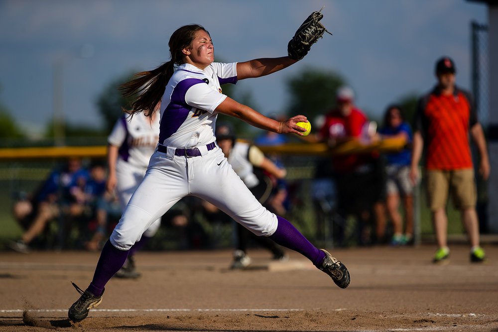 Williamsville's Payton Long winds up during the 2017 Land of Lincoln Softball Classic Monday, June 12, 2017. [Ted Schurter/The State Journal-Register]