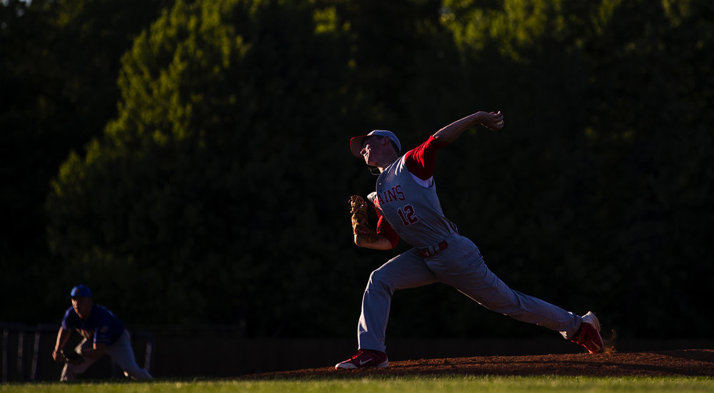 Pleasant Plains' TJ Painter winds up during the Baseball Classic at Claude Kracik Field Tuesday, June 13, 2017.  [Ted Schurter/The State Journal-Register]