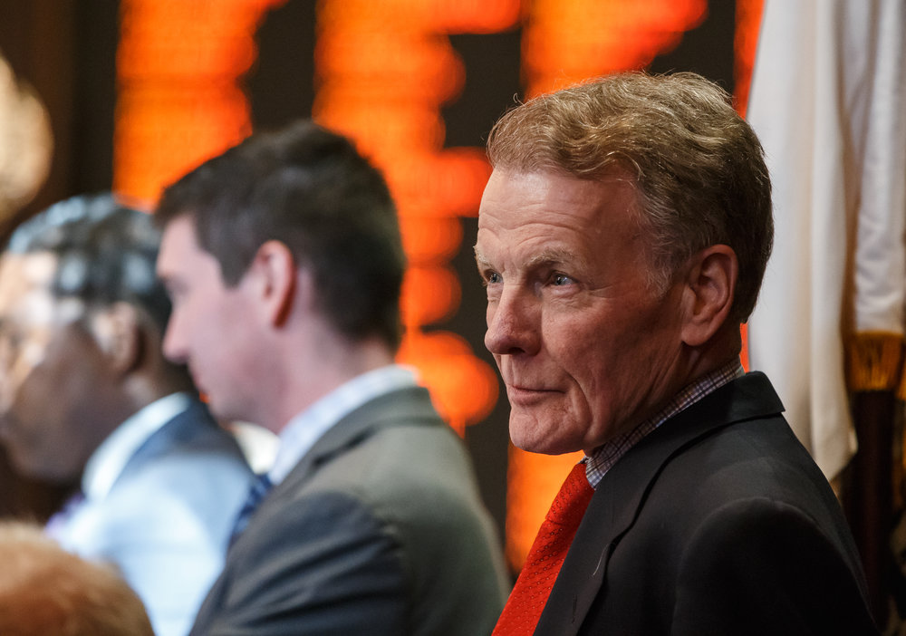Illinois Speaker of the House Michael Madigan, D-Chicago, listens to the final debate on Senate Bill 9, a tax hike bill, on the floor of the Illinois House during the overtime session at the Illinois State Capitol, Sunday, July 2, 2017, in Springfield, Ill. [Justin L. Fowler/The State Journal-Register]