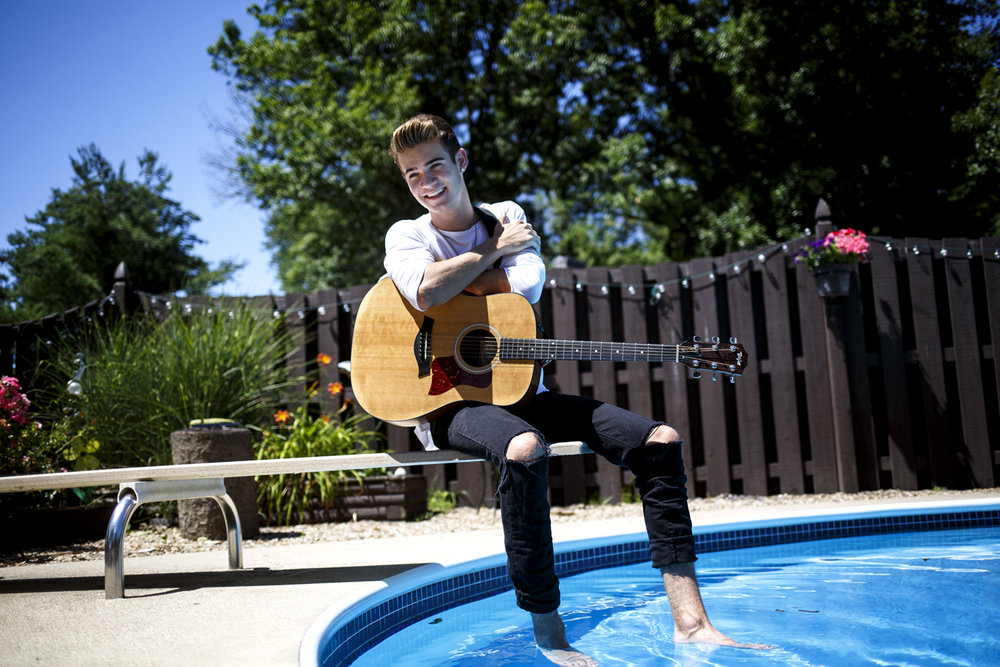 Devin Hayes relaxes at his home in Cantrall Monday, June 19, 2017. The 18-year-old musician has been chosen to be a contestant on ABCÕs new reality show ÒBoy Band.Ó [Rich Saal/The State Journal-Register]