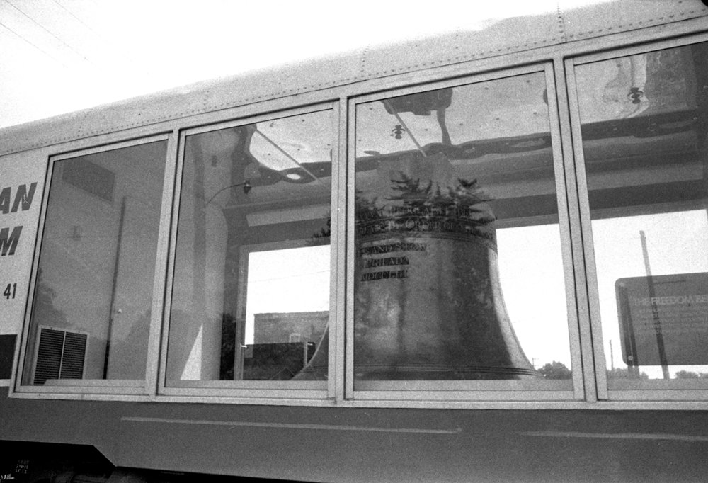 The American Legion Freedom Bell, a 2:1 scale replica of the Liberty Bell, traveled with the American Freedom Train on its stop in Springfield July, 1975. File/The State Journal-Register