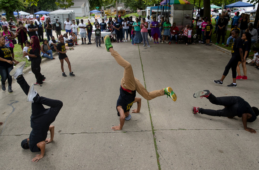 Dance group Critical Ambition performs at the Blacks, Whites and Blues Festival Saturday, Aug. 5, 2017. [Ted Schurter/The State Journal-Register]