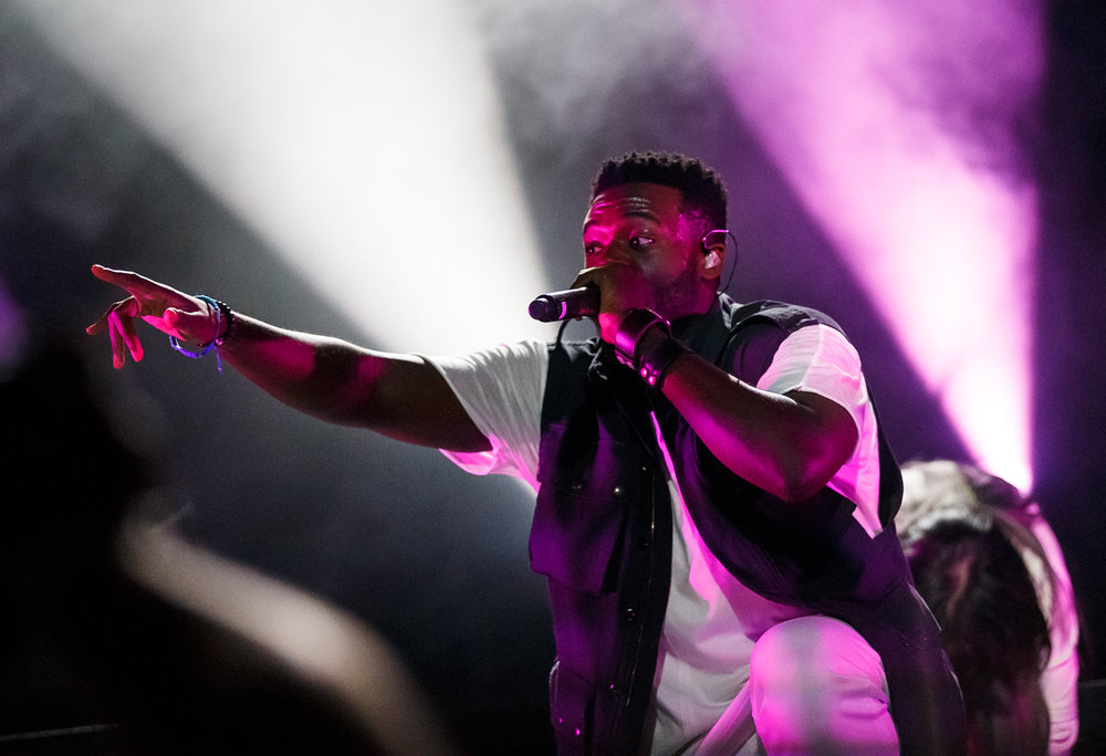 Singer Kevin Olusola of Pentatonix performs on the Grandstand stage at the Illinois State Fairgrounds, Saturday, Aug. 12, 2017, in Springfield, Ill. [Justin L. Fowler/The State Journal-Register]