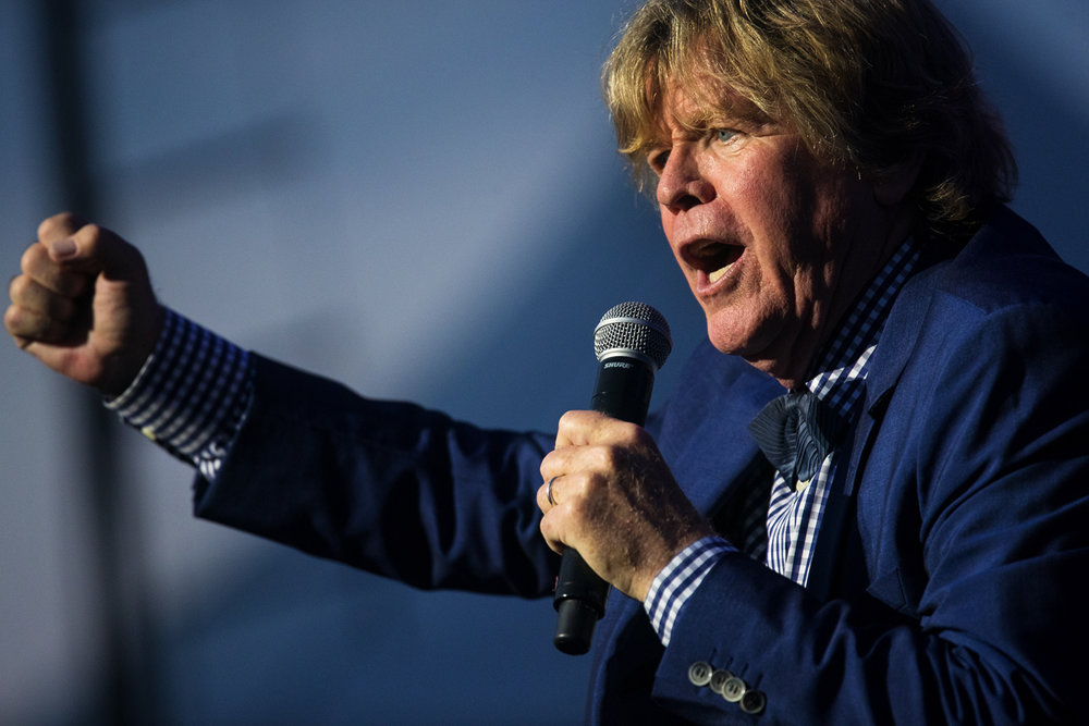 Peter Noone performs with Herman's Hermits during the Illinois State Fair Monday, Aug. 14, 2017. [Ted Schurter/The State Journal-Register]