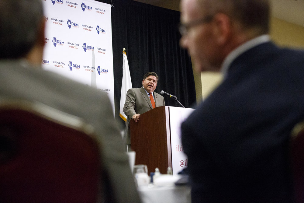 Democratic candidate for governor J.B. Pritzker addresses the Illinois Democratic County Chairmen's Association 2017 Annual Chairmen's Brunch Thursday Aug. 16, 2017 at the Crowne Plaza in Springfield, Ill. [Rich Saal/The State Journal-Register]