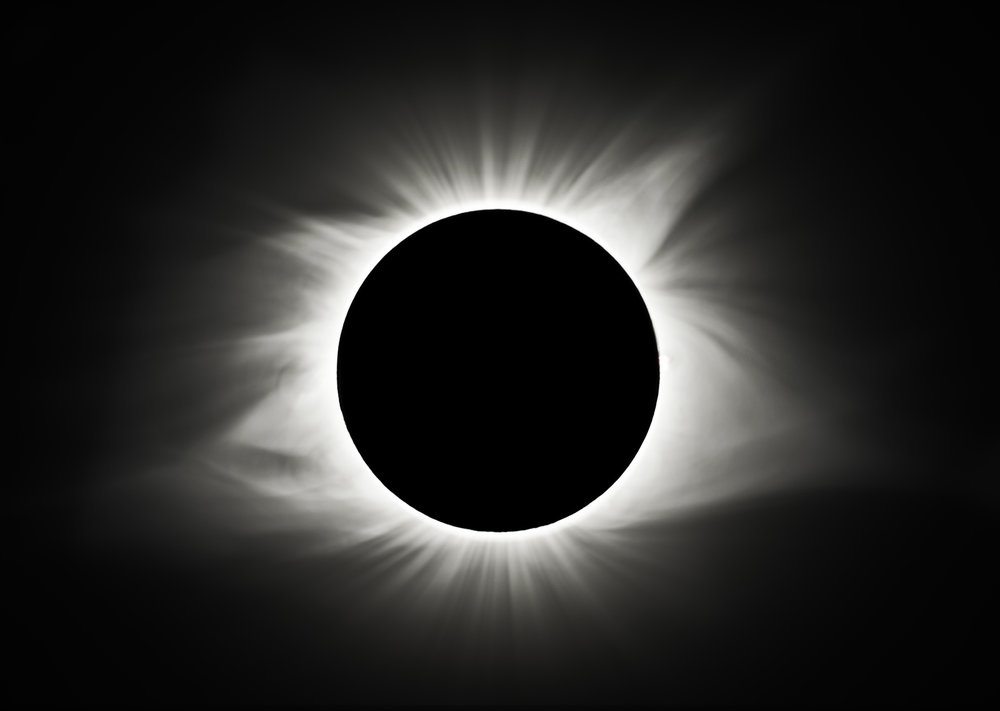 The corona of the sun is visible during totality of the solar eclipse in a composite image from Carbondale, Ill., Monday, Aug. 21, 2017. The corona is the outermost layer of the solar atmosphere. It appears as a halo around the sun during a total solar eclipse. According to NASA, the corona is made of a tenuous ionized gas called plasma, with temperatures up to many millions of degrees Fahrenheit. It is visible to the naked eye only during a total solar eclipse. [Ted Schurter/The State Journal-Register]