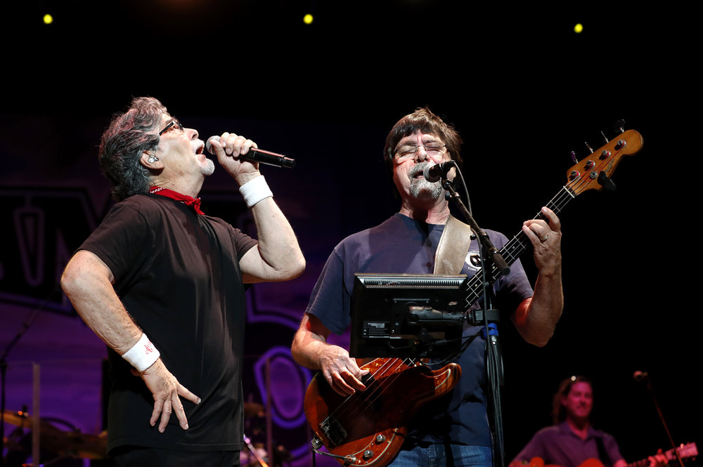 Alabama's Randy Owen, left, and Teddy Gentry performs at the Grandstand at the Illinois State Fair Wednesday, Aug. 16, 2017. [Ted Schurter/The State Journal-Register]