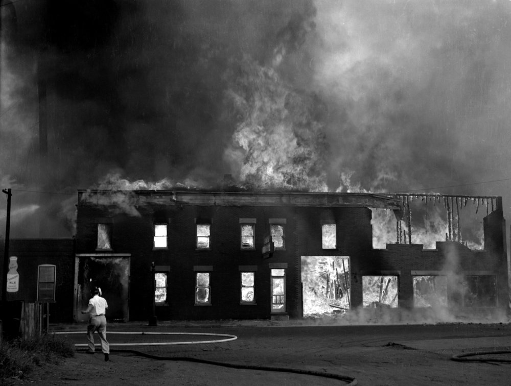 Schuck Lumber fire, August 1937.