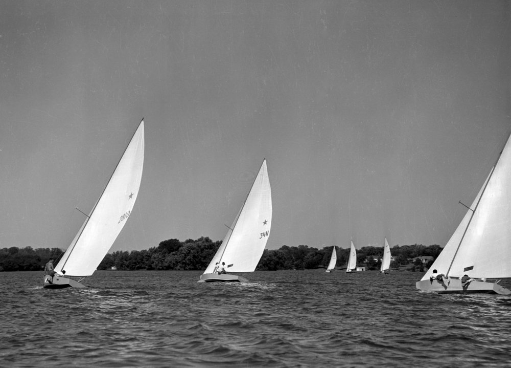 Sailboats on Lake Springfield, September 3, 1956