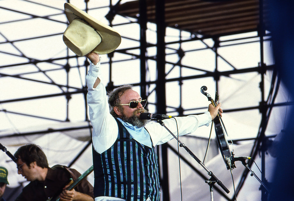 "Charlie Daniels delivered what his fans expected singing ""The Devil Went Down to Georgia"" during his appearance at the Farm Aid concert at Memorial Stadium in Champaign, Ill. Sept. 22, 1985. [File/The State Journal-Register]"