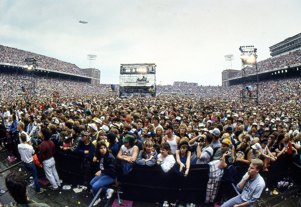 The Farm Aid concert at Memorial Stadium in Champaign, Ill. Sept. 22, 1985. [File/The State Journal-Register]
