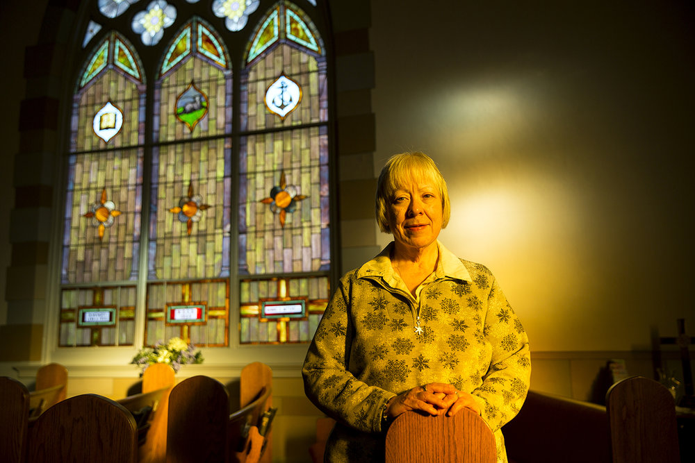 Dwindling attendance is forcing the Brooklyn United Methodist Church in Jacksonville to close. The Rev. Jean Hembrough, pastor, says only 48 members remain on the church's roll. Hembrough was photographed in the sanctuary Friday, Nov. 24, 2017. [Rich Saal/The State Journal-Register]