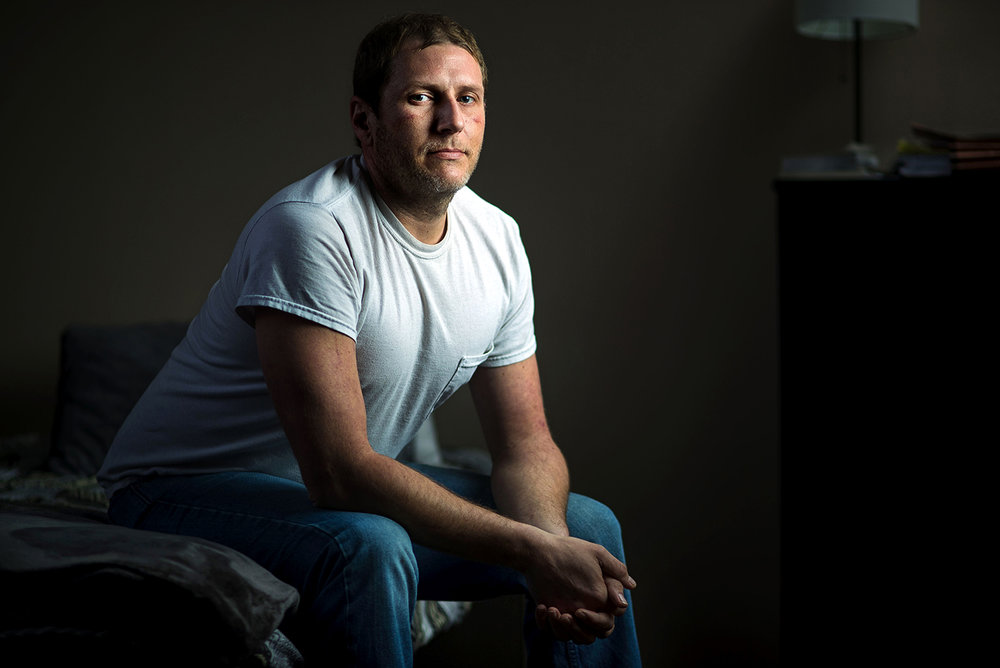 """I've used up my nine lives and then some,"" said 37-year-old Corey Small, now undergoing inpatient treatment for heroin addiction at Gateway Foundation's Springfield Treatment Center. [Ted Schurter/The State Journal-Register]"