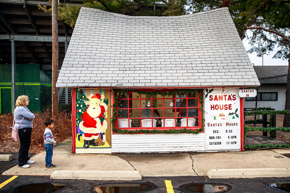 Santa's House next to Robin Roberts Stadium off North Grand Avenue is a fixture for kids getting a chance to see Santa Claus and is open through Dec. 22nd 5-8 p.m. Monday through Friday and noon-5 p.m. Saturday and Sunday. [Justin L. Fowler/The State Journal-Register]