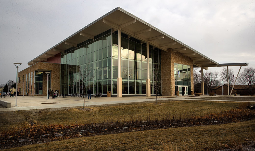 The University of Illinois Springfield officially opened the new $21.75 million Student Union Sunday, Jan. 14, 2018. [Ted Schurter/The State Journal-Register]
