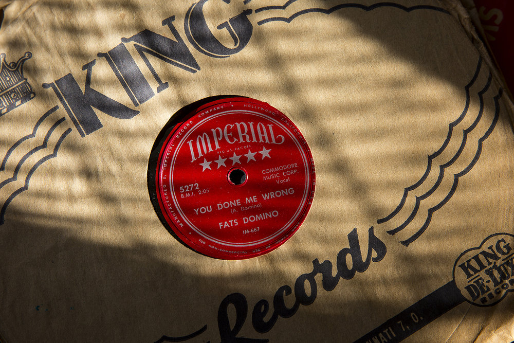 "A Fats Domino 78 rpm copy of ""You Done me Wrong"" is for sale Thursday at Recycled Records. [Rich Saal/The State Journal-Register]"