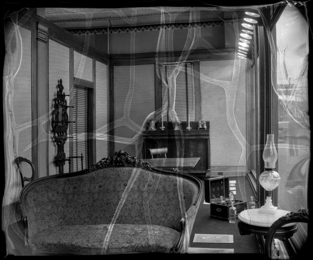 Window display at A. Dirksen & Son furniture store showing furniture reportedly used by Abraham Lincoln, October 22, 1937. File/The State Journal-Register