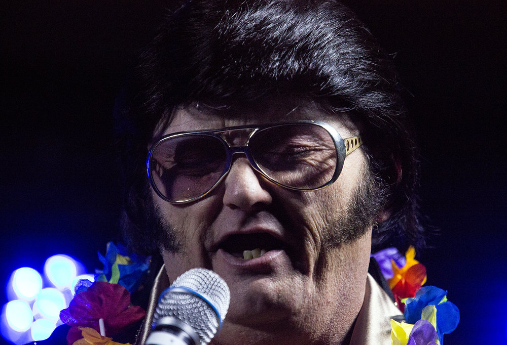 Russ Brittain of Ogden, Iowa performs as Elvis during the Midwest Tribute to King Friday, Feb. 16, 2018 at the Route 66 Hotel and Conference Center in Springfield, Ill. [Rich Saal/The State Journal-Register]
