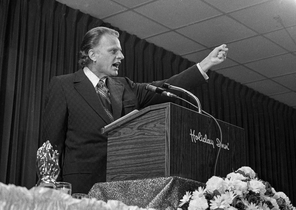 The Rev.Billy Graham addressed the Governor's Prayer Breakfast at the Holiday Inn East in Springfield April 20, 1972. Graham died Wednesday at age 99. File/Bill Hagen/The State Journal-Register