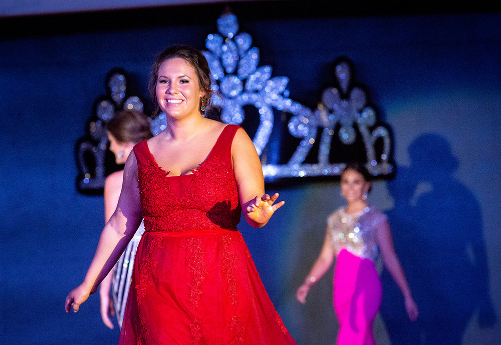 Claire Moore was named Miss Congeniality in the Sangamon County Fair Queen pageant Tuesday, June 12, 2018 at the Sangamon County Fairgrounds in New Berlin, Ill. [Rich Saal/The State Journal-Register]