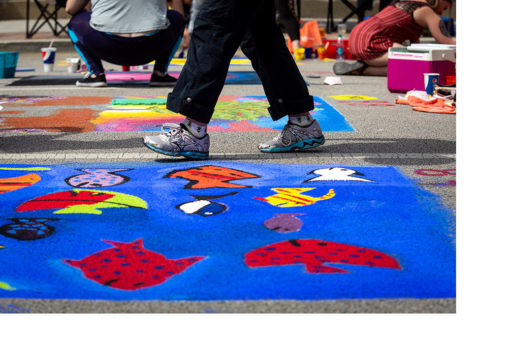 The 2018 Paint the Street festival hosted by the Springfield Art Association Saturday, June 23, 2018 on Washington Street in Springfield, Ill. [Rich Saal/The State Journal-Register]