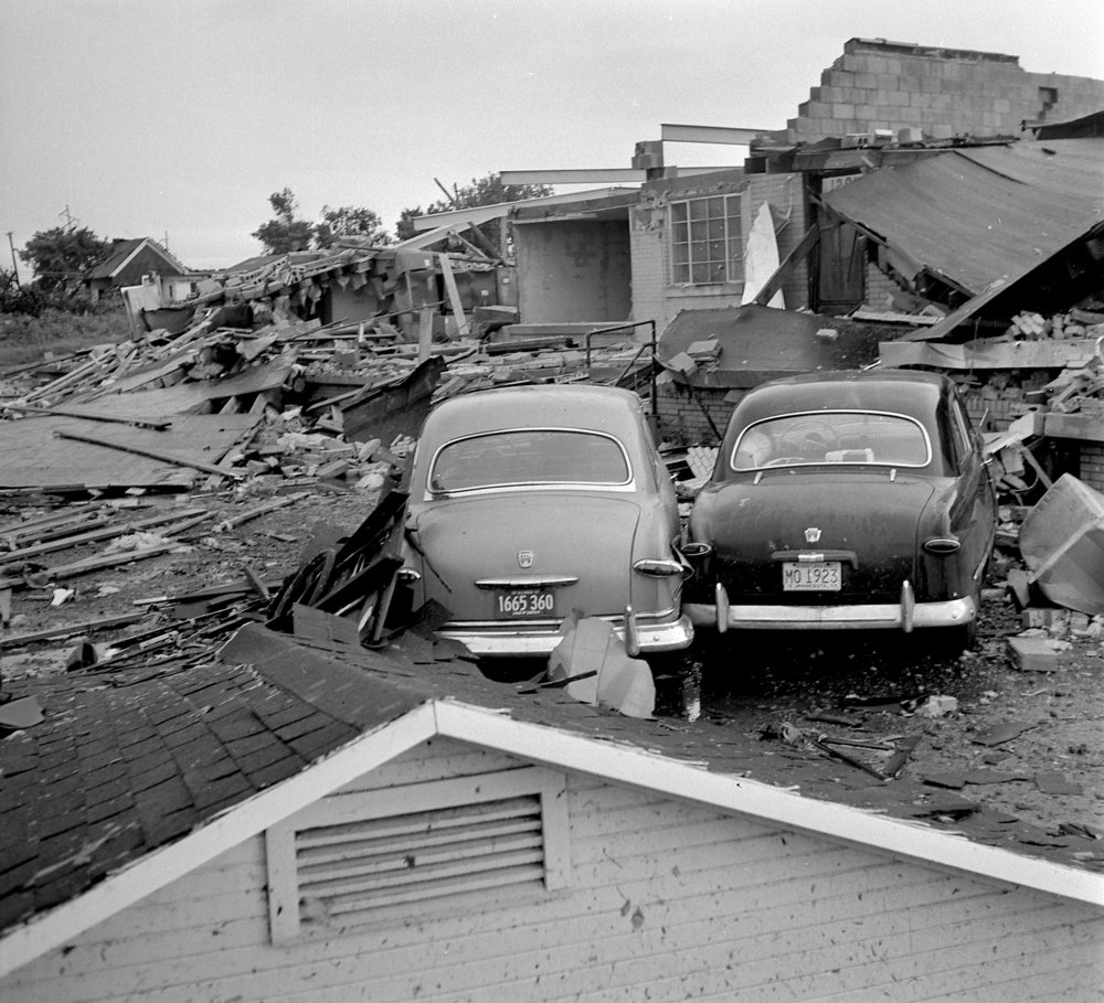 A tornado that struck Springfield on June 14, 1977 killed two people and injured about 50 others. About 25 homes were destroyed and almost 200 suffered serious damage. Damage was estimated at $3 million, according to the National Weather Service. file/The State Journal-Register.