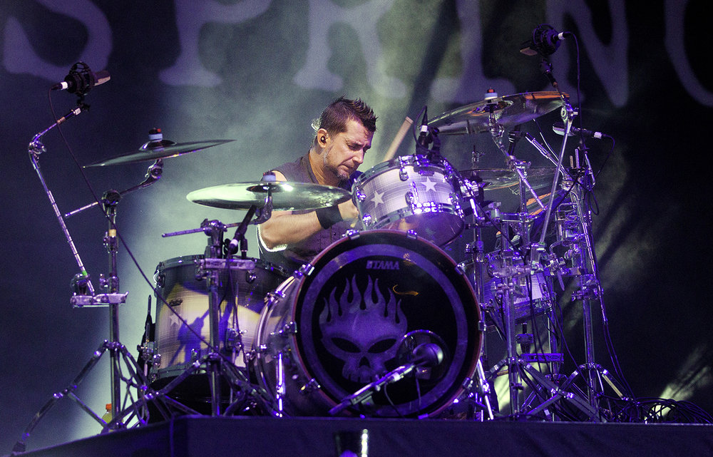 Pete Parada peforms with The Offspring at the Illinois State Fair Wednesday, Aug. 15, 2018. [Ted Schurter/The State Journal-Register]